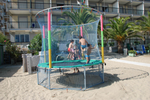 Children activities and entertainment on the beach